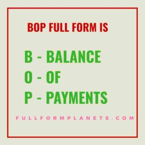 Bop Full Form in Economics