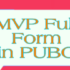 MVP Full Form in PUBG