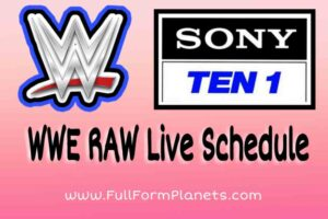 Sony Ten 1 Schedule India