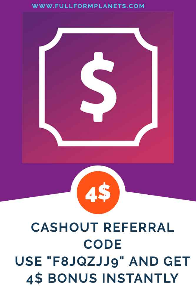 Cashout Referral Code