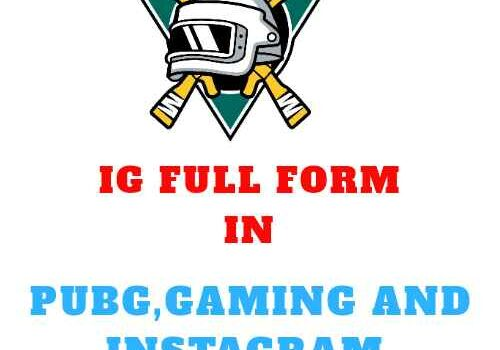 IG Full Form in Pubg