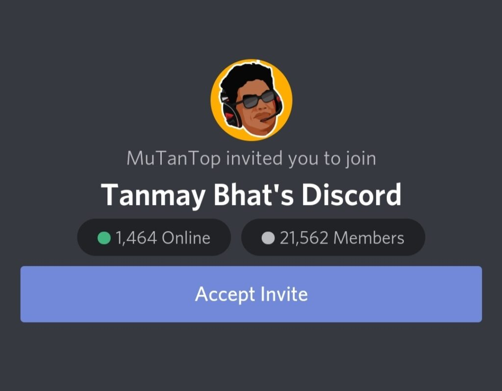 Tanmay Bhat Discord