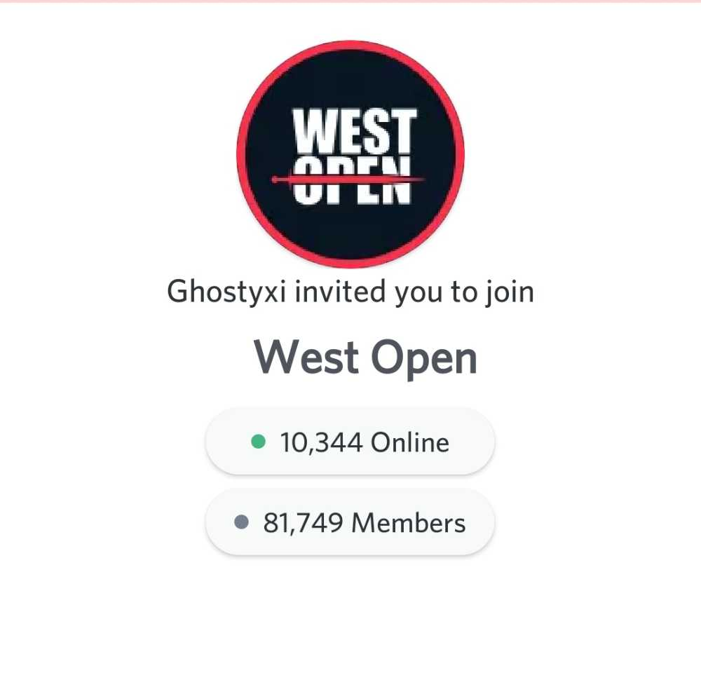 West 2.0 Discord Link 2020